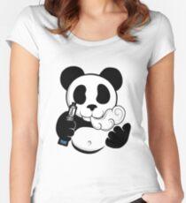 Vape Panda  Women's Fitted Scoop T-Shirt