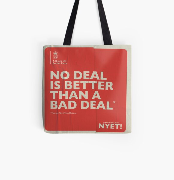 No Deal Tote All Over Print Tote Bag