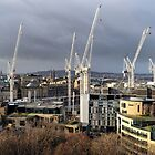 Eleven Cranes - Edinburgh, Scotland by Richard Flint
