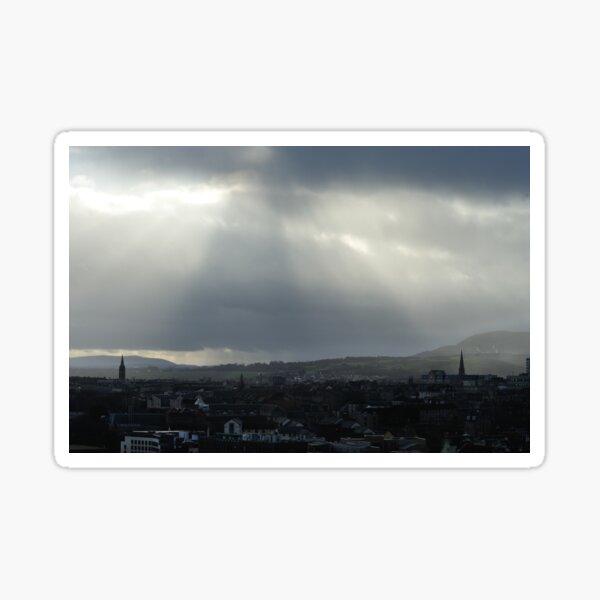 Between two church spires - Edinburgh, Scotland Sticker