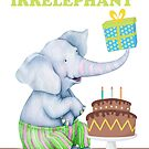 Age is Irrelephant Birthday Elephant Humor by Ricaso