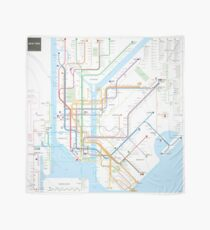 New York City subway map Scarf