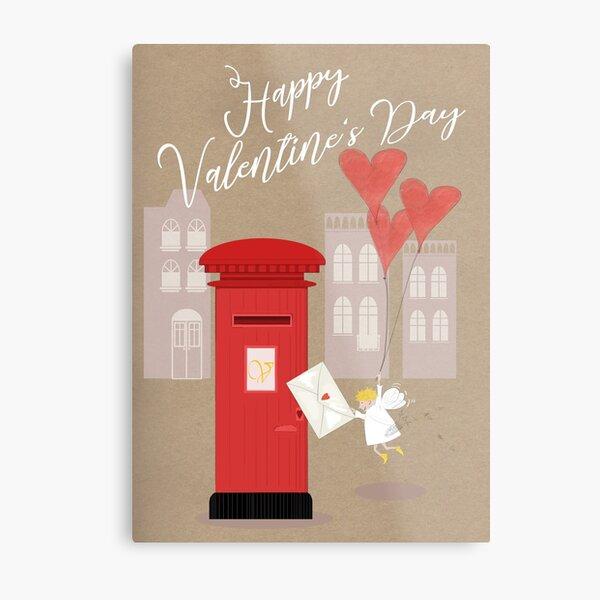 Happy Valentine's Cupid Metallbild