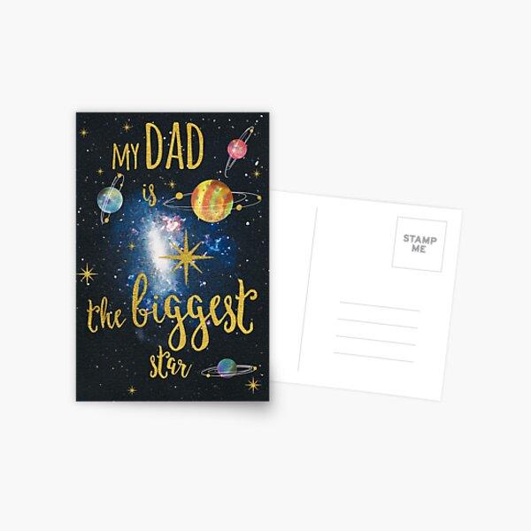 Biggest Star Dad Postkarte
