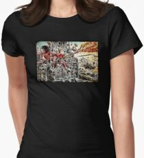 Doof Warrior, Mad Max, Art, Guitar Player, guitar, flame guitar, flame, fury road, joe badon Women's Fitted T-Shirt