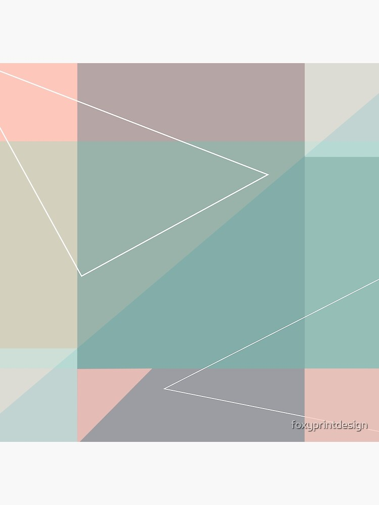 Geometric summer breeze by foxyprintdesign