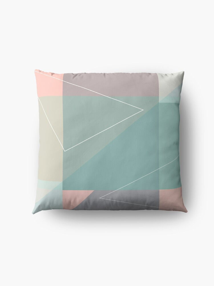 Alternate view of Geometric summer breeze Floor Pillow