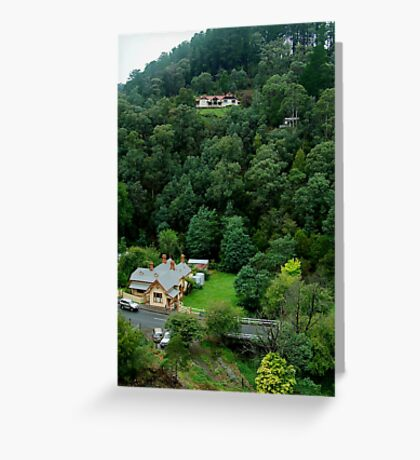 Perched,Walhalla Hospital. Greeting Card