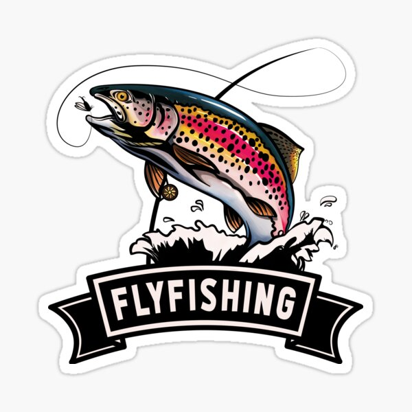 Trout Eagle Fly Fishing Sticker