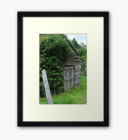 Old Shed,Main Road,Walhalla Framed Print