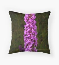 Fragrant Orchid Throw Pillow