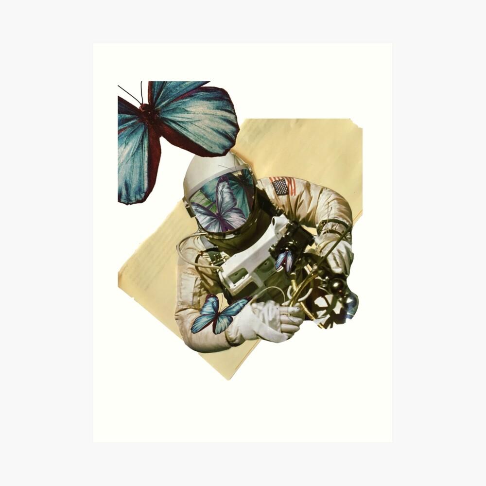 Schmetterlinge im Weltall Kunstdruck