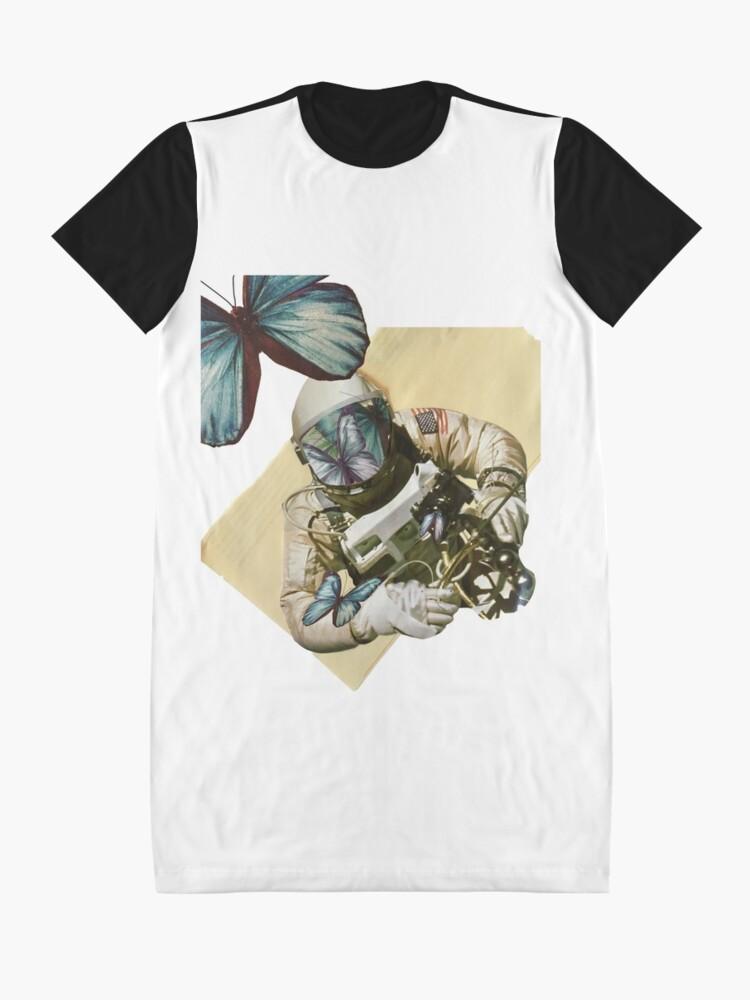 Alternative Ansicht von Schmetterlinge im Weltall T-Shirt Kleid