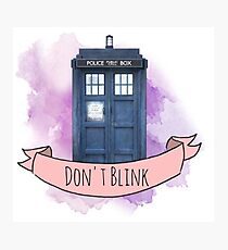 "TARDIS ""don't blink"" Photographic Print"