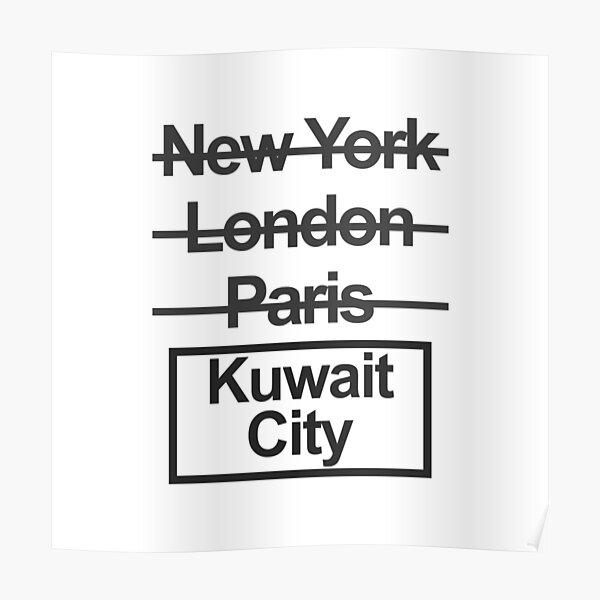 Kuwait City Text design Poster
