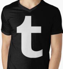 Tumblr Logo Men's V-Neck T-Shirt