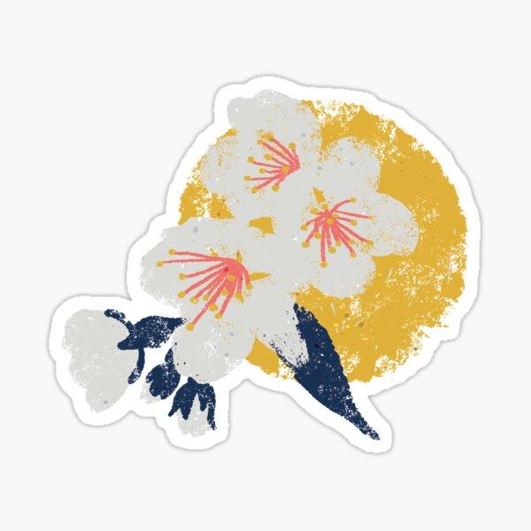 Cherry Blossom Dot - Coral Sticker