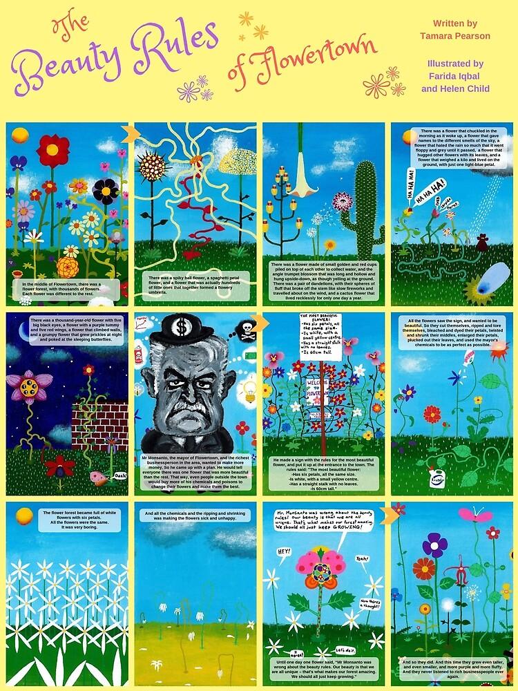 Children's book: The Beauty Rules of Flowertown by thRedbird