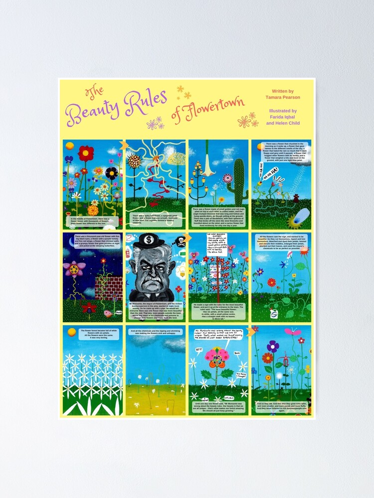 Alternate view of Children's book: The Beauty Rules of Flowertown Poster