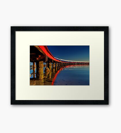 """Boardwalk Reflections"" Framed Print"