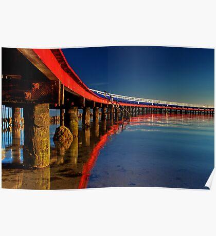 """Boardwalk Reflections"" Poster"