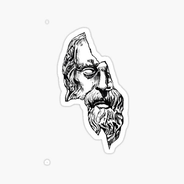 Ilustración de Diógenes Pegatina