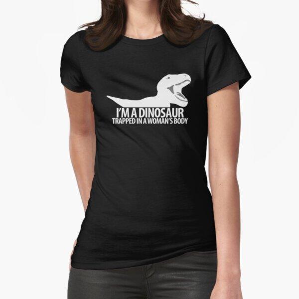 """Dinosaur on the inside"" lighter edit Fitted T-Shirt"