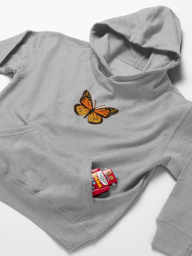 Alternate view of Monarch Butterfly Kids Pullover Hoodie