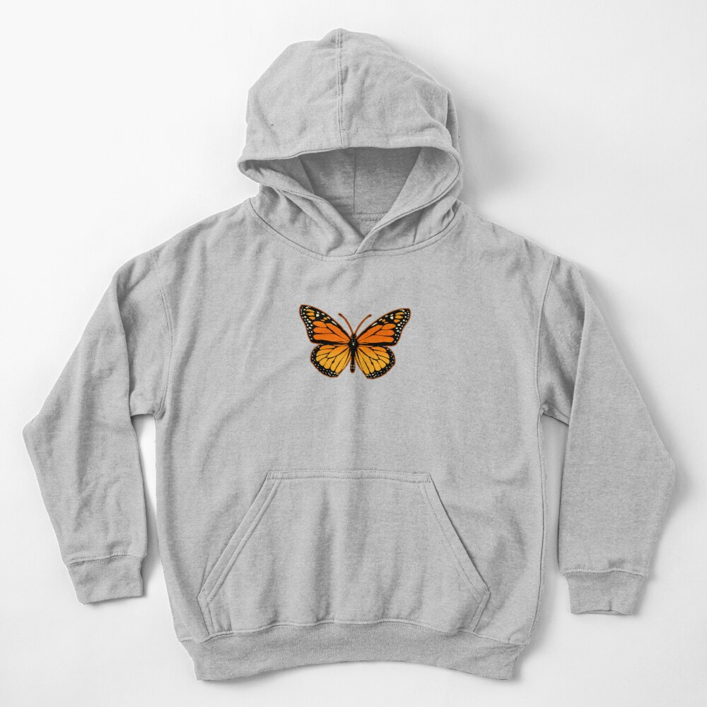 Monarch Butterfly Kids Pullover Hoodie