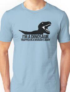 Dinosaur on the inside (For the ladies) Unisex T-Shirt