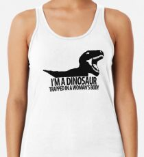 Dinosaur on the inside (For the ladies) Women's Tank Top