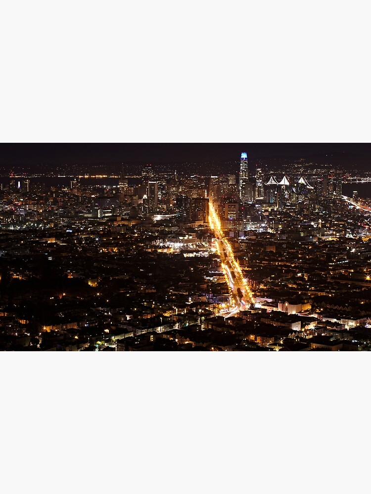 Downtown San Francisco at Night by declanlopez