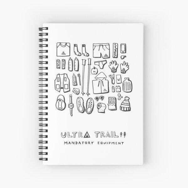 Ultra Trail - Mandatory Equipment - White Spiral Notebook