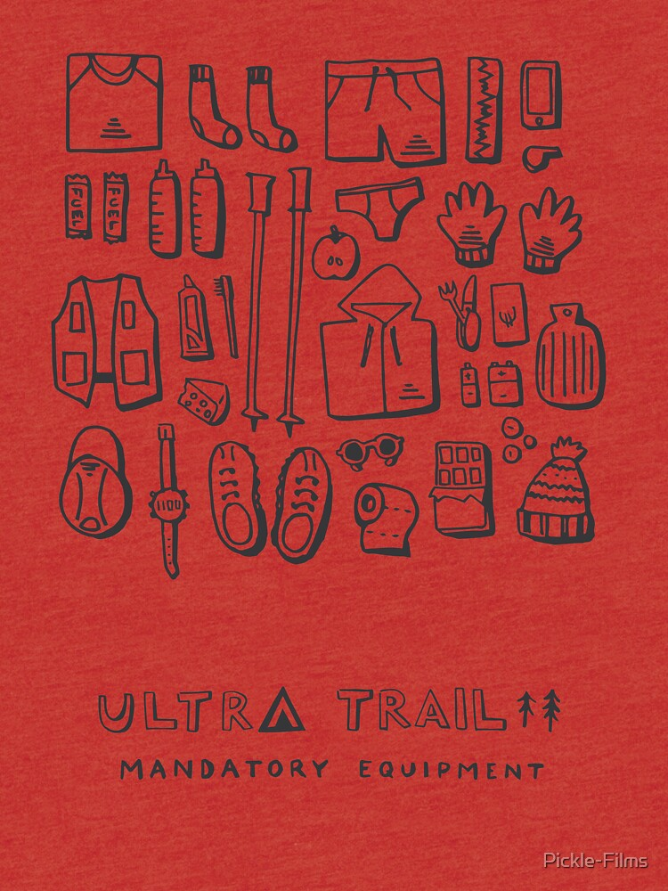 Ultra Trail - Mandatory Equipment - White by Pickle-Films