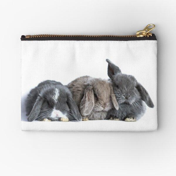 Mini Lop Baby Rabbits Zipper Pouch
