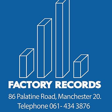 Factory Records, Palatine Road (white) by jotibbs