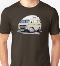 VW T25 / T3 (High Top) White Unisex T-Shirt