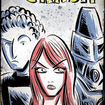 Starcrash, Star Crash, Art, Sci-Fi, Poster, B-Movie, bmovie, 70's, 80's, italian, science fiction, joe badon by joebadon