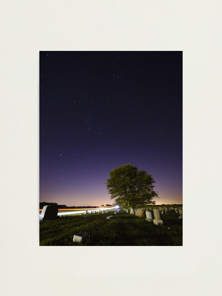 Alternate view of Cemetery Under the Night Sky Photographic Print