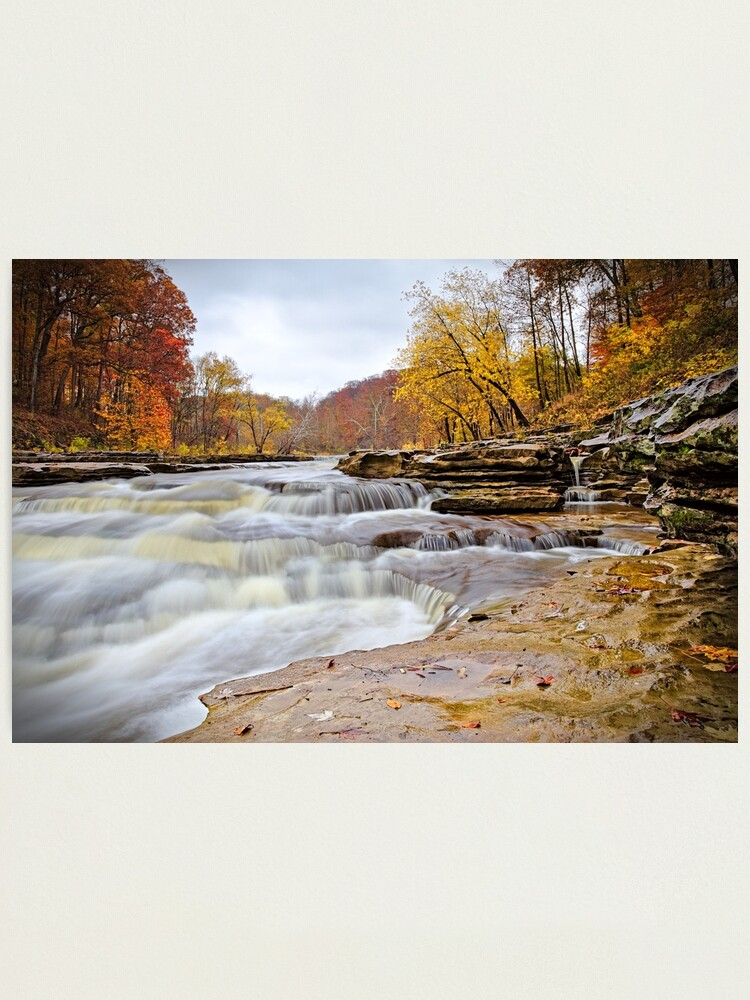 Alternate view of Autumn at Cataract Falls Photographic Print