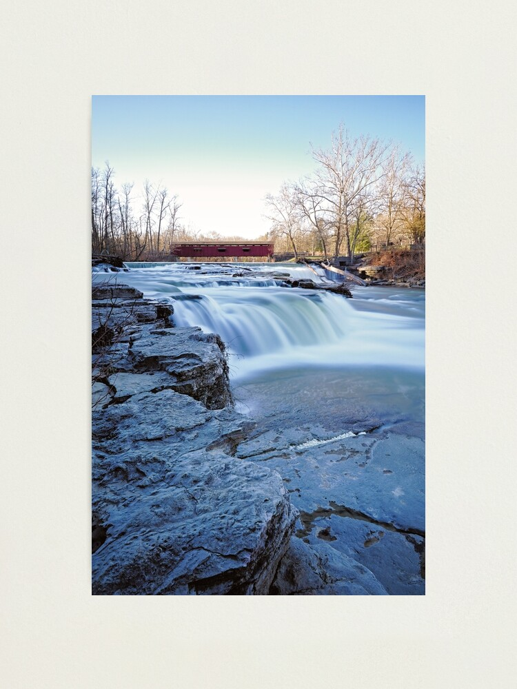 Alternate view of Cold Winter Morning at Cataract Falls Photographic Print