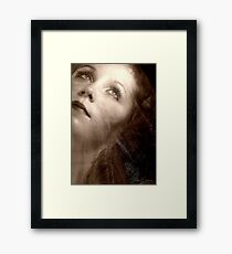 Silent Film Siren Framed Print