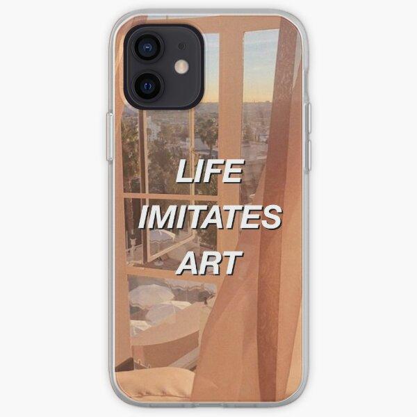 la vie imite l'art Coque souple iPhone