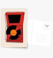 ROCK und ROLLE Retro Weinlese-Plattenspieler Phonograph Postkarten