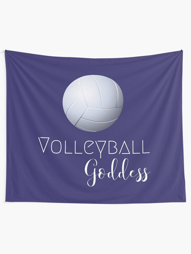 Alternate view of Volleyball Goddess  Tapestry