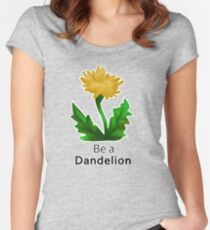 Be a Dandelion  Women's Fitted Scoop T-Shirt