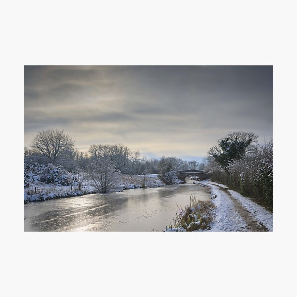 Macclesfield canal in winter Photographic Print