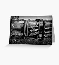 Country Gate Greeting Card