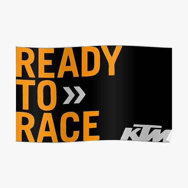 Prêt pour la course KTM Racing Poster