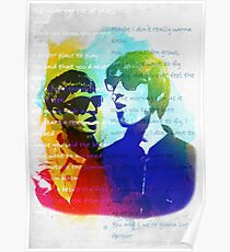 Noel and Liam Gallagher (Oasis) Poster